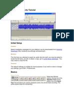 Recording With Audacity