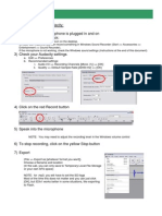 Audacity Instructions