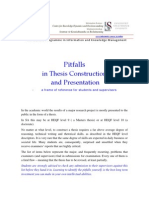Pitfalls in Thesis Construction and Presentation