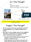 Freges the Thought