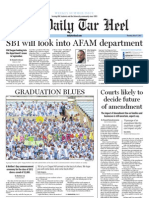 The Daily Tar Heel for May 17, 2012