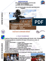 Justin Randriamahefa, Madagascar, Centres of Excellence - Summit 2012
