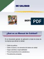 Manual de Calidad Diapositiva 1