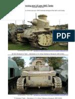 Surviving Rare US Tanks