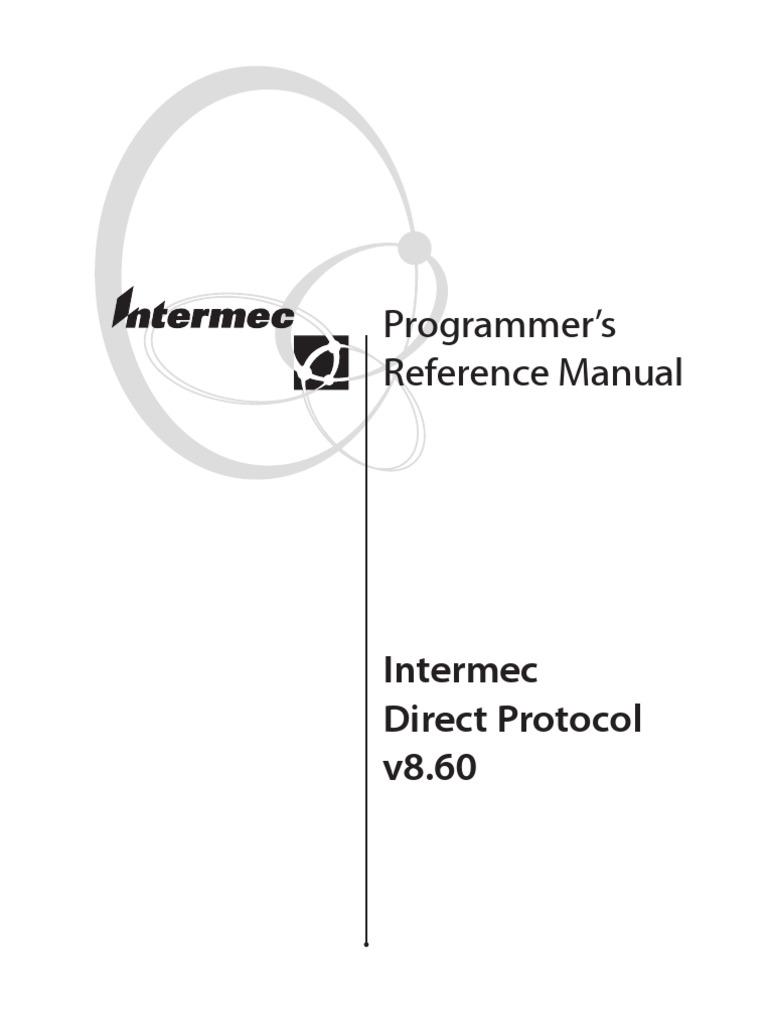 Intermec Direct Protocol v8.60 Programmer's Reference