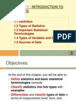 Chapter 1 Introd to Statistics