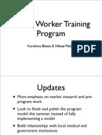 Evaluation Plan - Health Worker Training in Rural India - Bhatia Mehta