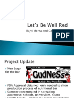 """Evaluation Plan - Let's Be Well """"Red"""" - Mehta Pereda"""