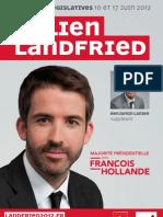 Affiche de campagne de Julien Landfried (1er tour)