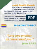 Ravensworth Baptist Church Announcements, 5/13/12