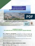 Acuerdo 321 Del 2011 ETM