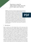 Fsharp for Query Log Analysis