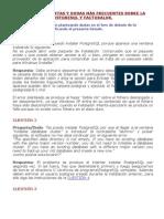 FAQ instalación PostgreSQL y FacturaLUX