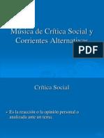 Música de Crítica Social y Corrientes Alternativas 4º