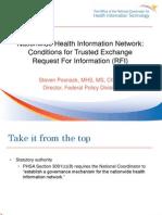 ONC RFI for NHIN Governance (Steven Posnack, ONC)