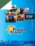 Prestação de contas 2010/2011 Priscila Krause
