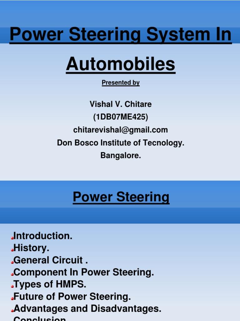 Power Steering | Steering | Wheeled Vehicles