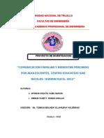 Proyecto Enfermeria Comunicacion y Bienestar - Unt 2012