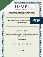 Resumen Computador en Educación-Luis M.