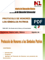 1. Protocolos de Honores a los símbolos patrios