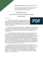 Prison Rape Elimination Act EMBARGOED Final Rule Executive Summary