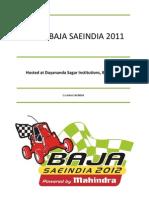 Virtual BAJA SAEINDIA 2011 Information Packet