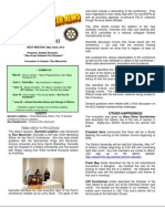 Moraga Rotary Newsletter -- May 15 2012