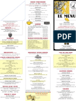 Paris Creperie Menu
