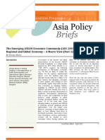 Part I - The Emerging ASEAN Economic Community (AEC 2015) in the Wider Regional and Global Economy – A Macro View (Part 1)  (George Abonyi, 2012)
