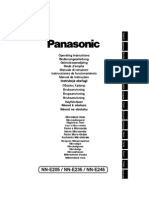 Manual Cuptor Microunde Panasonic Nn-e235 m