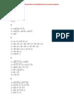 Exercícios Resolvidos de Simplificação de funções lógica1
