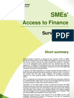 SMEs' Access to Finance - Survey 2011