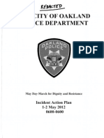 May Day 2012 OPD Incident Action Plan