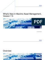 What's New in Maximo 7.5