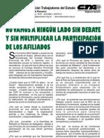 4 de mayo 2012 - No vamos a ningún lado sin debate y sin multiplicar la participación de los afiliados