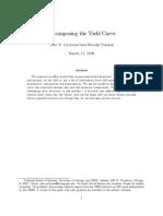 DecomposingTheYieldCurve - Cochrane, Piazzesi (2008)
