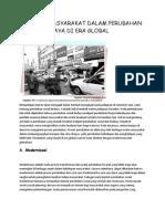 Perilaku Masyarakat Dalam Perubahan Sosial Budaya Di Era Global