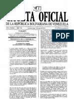 Gaceta Oficial Ley Trabajo 2012 Go 6076