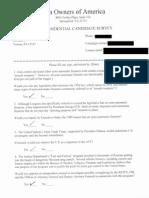 Rick Santorum's answers to Gun Owners of America Candidate Survey 2012torum Survey Response