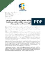 """Nueva ventana oportuna para el pollo fresco del paísEstablecen política pública sobre el pollo congelado (No se podrá vender como """"fresco"""")"""