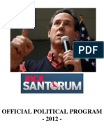 Rick Santorum for President - Official Political Program 2012