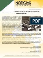 ¿COMO PERCIBEN LOS DOCENTES EL SECTOR EDUCATIVO DE BARRANQUILLA?