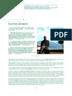 Leroy Jones ~ Legendary New Orleans jazz trumpeter