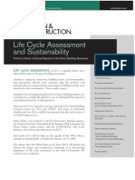 2005 Life Cycle Assessment and Sustainability