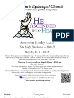 St. Martin's Episcopal Church Worship Bulletin - May 20 - 10:15 a.m.