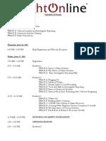 2011 Right Online Agenda