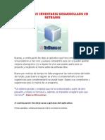 Software de Invent a Rio Desarrollado en Netbeans