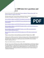 Windows 2008 Server Int Qustion