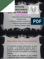 Equipo 4 Expo Sic Ion Del Tema Proceso de Evaluacion