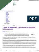 17-05-12 Exige la permanente a FCH publicación del reglamento de ley migratoria